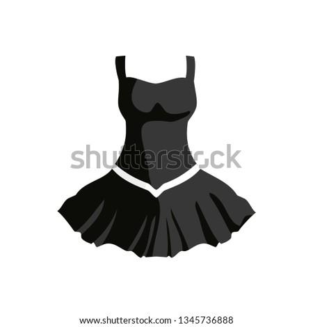 Evening Dress. Vintage dress. Elegant dress. Evening dress icon. White background. Vector illustration. EPS 10.
