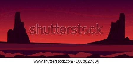 evening in the desert vector