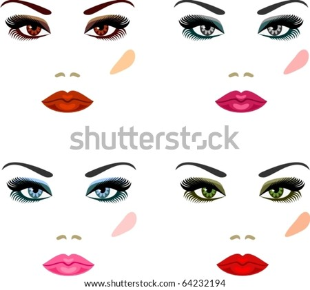 Evening make-up for eyes of different colors