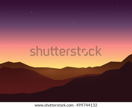 evening sky over mountain
