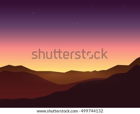 evening sky over mountain