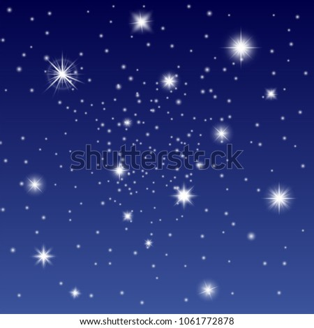 evening sky vector background