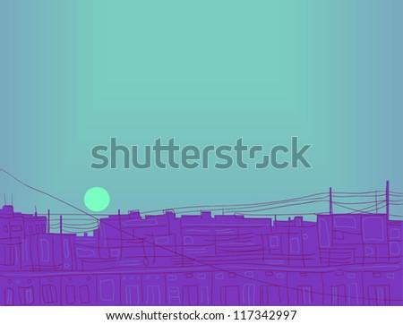 evening sun vector