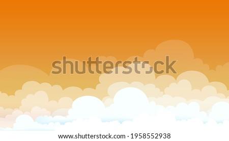 evening sunset sky in orange