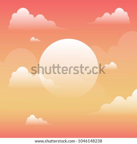 evening sunset sky landscape