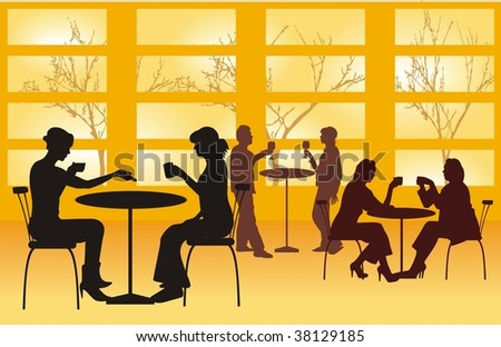 evening supper vector  cmyk