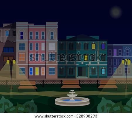 evening town street