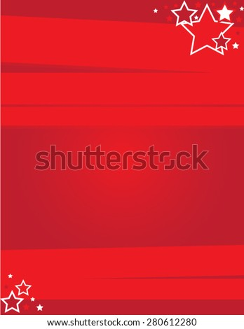 Event Flyer Red - Shutterstock ID 280612280