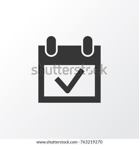 Event icon symbol. Premium quality isolated calendar element in trendy style.