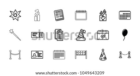 event icons set of 18 editable