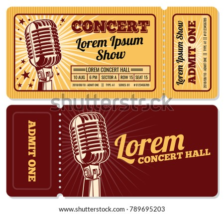 event or concert ticket