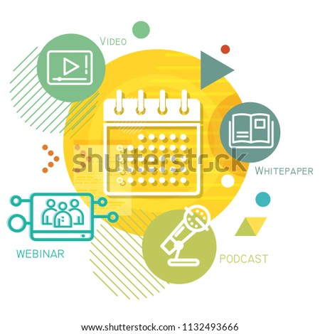 Event Planning Abstract Illustration as EPS 10 File