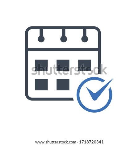 Event Schedule Sign. Event Schedule Icon Vector Graphic.