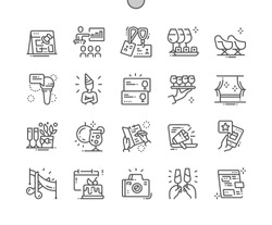 Event Well-crafted Pixel Perfect Vector Thin Line Icons 30 2x Grid for Web Graphics and Apps. Simple Minimal Pictogram
