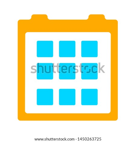 events calendar icon. Logo element illustration. events calendar symbol design. colored collection. events calendar concept. Can be used in web and mobile