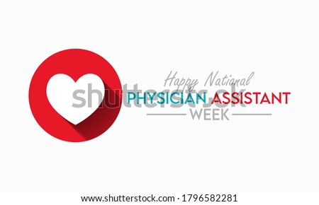 Every year from October 6-12, we celebrate National Physician Assistant Week, which recognizes the PA profession and its contributions to the nation's health. Vector illustration. Foto stock ©
