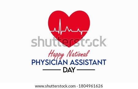 Every year in October, we celebrate National Physician Assistant day, which recognizes the PA profession and its contributions to the nation's health. Vector illustration. Foto stock ©