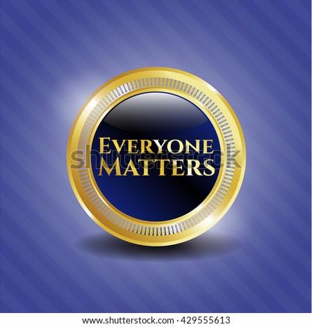 Everyone Matters golden emblem