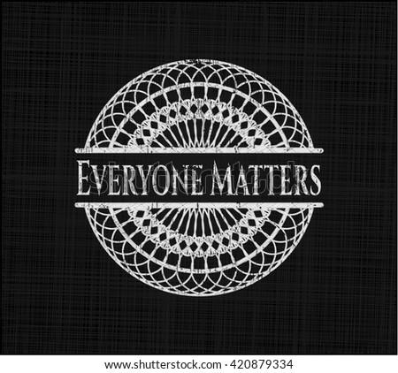 Everyone Matters on blackboard