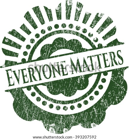 Everyone Matters rubber stamp