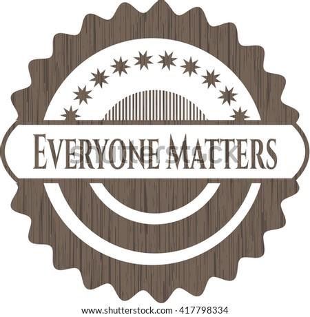 Everyone Matters wood emblem