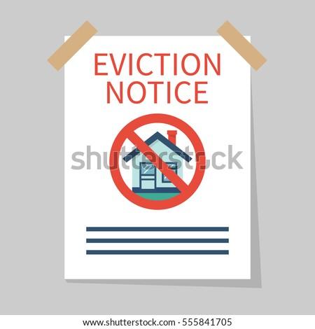 eviction notice  white sheet on