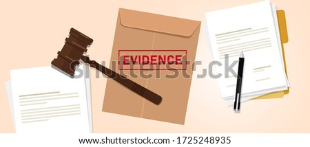 Evidence stamped in brown envelope concept of proof in law justice court Сток-фото ©