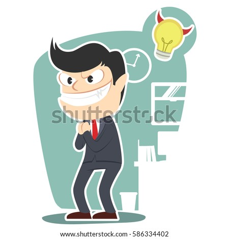 evil businessman illustration