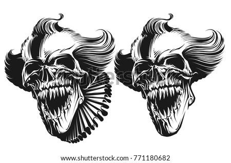 evil clown skull