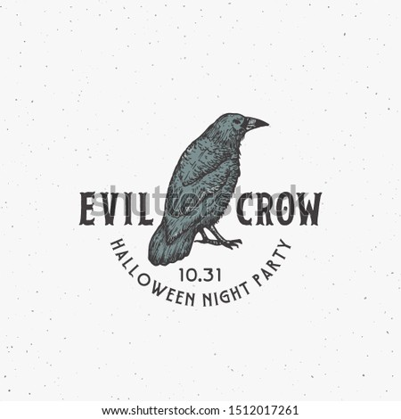 evil crow party vintage style