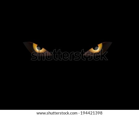 Stock Photo evil eye on black nitght angry animal eye