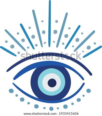 evil eye vector - symbol of protection - blue turkish ストックフォト ©
