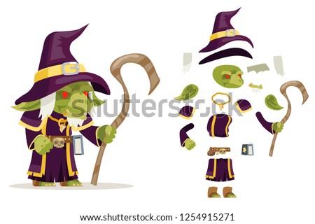 evil goblin mage sorcerer