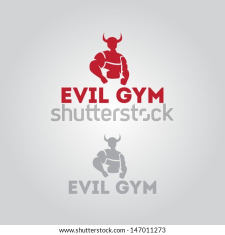 Evil Icon for Gym Illustration Vector