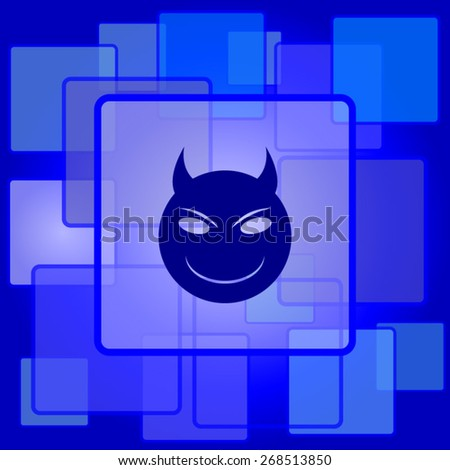 evil icon internet button on