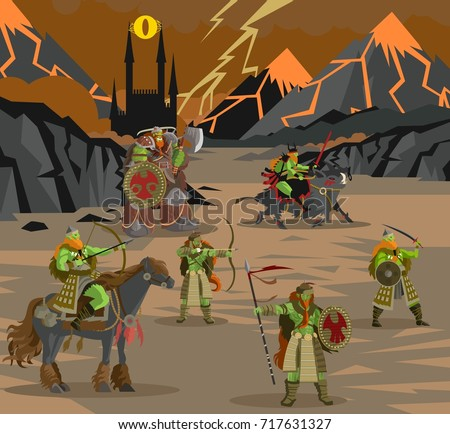 evil orcs in the castle valley