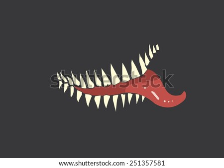evil smile on dark background