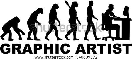 evolution graphic artist