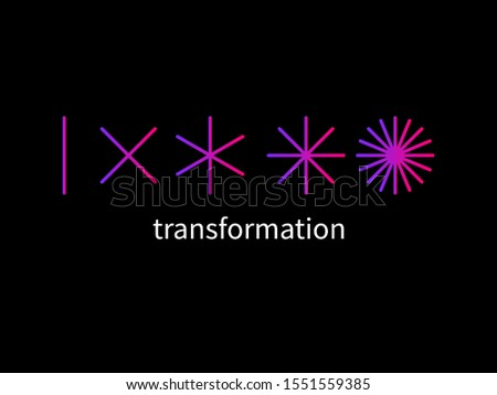 evolution logo, change metaphor, coaching sign, new life line vector symbol, transform concept ストックフォト ©