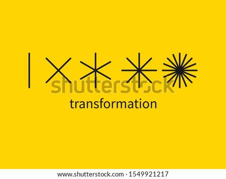 evolution logo, change metaphor, coaching sign, new life vector symbol, transform concept ストックフォト ©