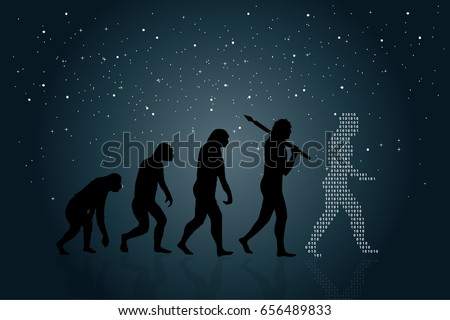 evolution of man into a modern