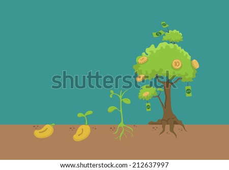 evolution of money tree   eps10