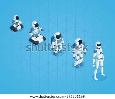 evolution of robots isometric