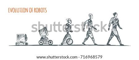 evolution of robots vector