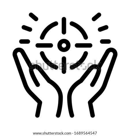exaltation of purpose icon vector. exaltation of purpose sign. isolated contour symbol illustration Photo stock ©