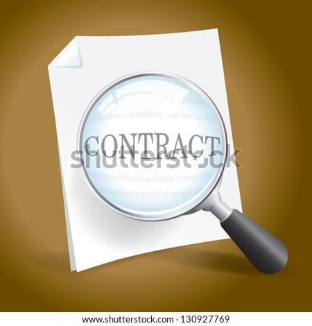 Examining a Contract or Legal Document.