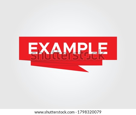 Example paper origami speech bubble. Example sign banner design vector  ストックフォト ©