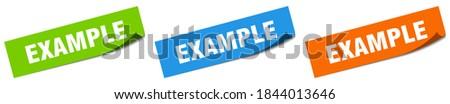 example paper peeler sign set. example sticker ストックフォト ©