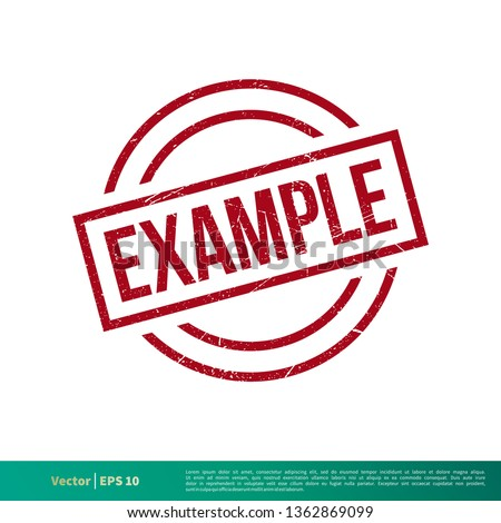 Example Stamp Vector Template Illustration Design. Vector EPS 10. ストックフォト ©