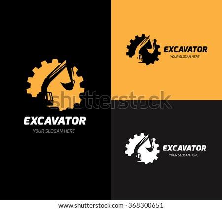 excavator logo vector logo